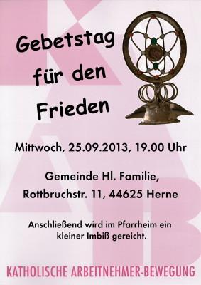 Gebetstag 2013
