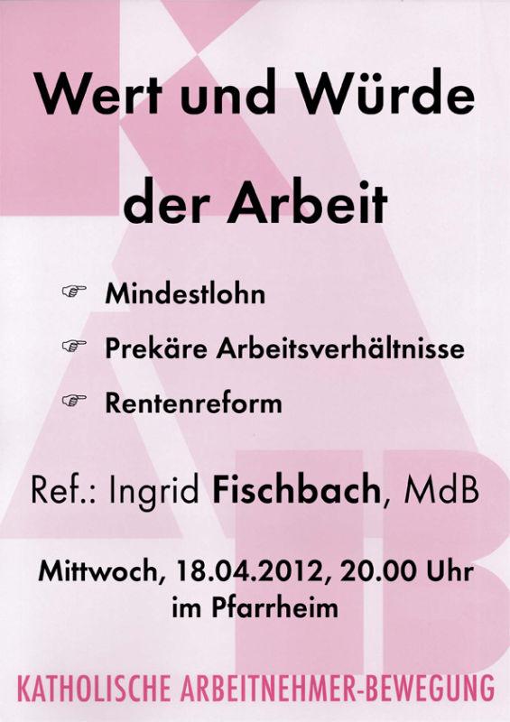 Plakat Fischbach 2012 mit