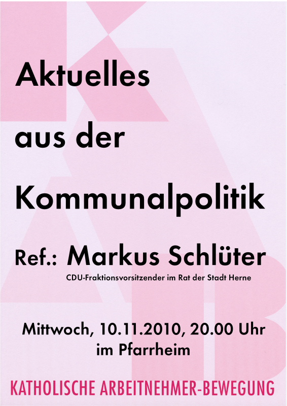 Plakat Schlüter 2010-11-10