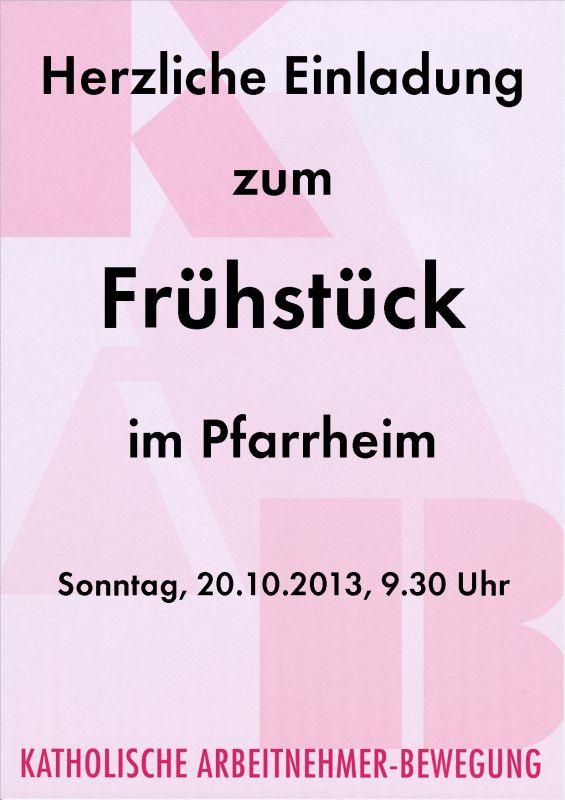 Plakat Frühstück-2013-10-20